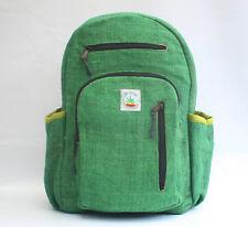 Laptop Bag Hemp backpack rucksack  travel Handmade organic Vegan bag to school