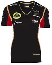 T-SHIRT Tee Ladies Formula One 1 Lotus F1 Team Burn Raikkonen Black 2013 US