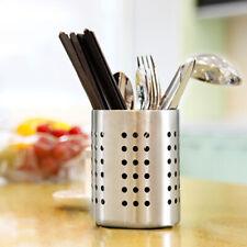 Stainless Steel Cutlery Holder Drainer Storage Chopstick Rack Fork Natural Dryer