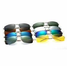 Polarized Rimless Sunglasses Light Weight UV400 Rectangular Flexible Driving