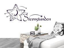 Wandtattoo für Schlafzimmer Wandtatoo Aufkleber Sprüche Sternstunden Sterne
