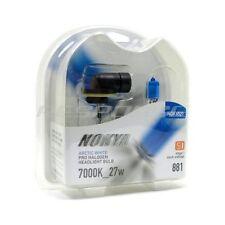 Nokya 881 Arctic White Headlight Foglight Bulbs Pro Halogen 7000K 12v/27w