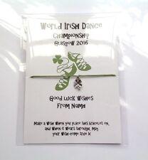 Personalised Good Luck friendship bracelets Happy Birthday Irish dancing