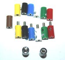 20 Miniatur Stecker / Muffen  2,6 mm farblich sortiert