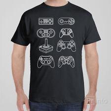 Funny geek nerd T-shirt CONTROLLER EVOLUTION nintendo playstation gaming game