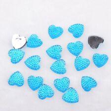 DIY 30/60/90PCS Resin Half Heart Flat Back Appliques/Craft/Wedding Decoration
