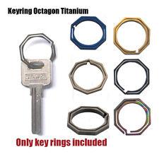 Quickdraw Tc4 Ti Hook outdoor clip kit Buckle Keychain Keyring Octagon Titanium~
