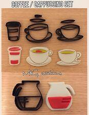 Caffè Cappuccino Cup e pot Cookie Cutter Set fondente Decorazione Torte