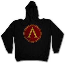 SPARTA HOODIE HOODED SWEATSHIRT Spartans Never Surrender 300 Logo Insignia Sign