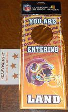 NFL 3D DOOR HANGER *** OAKLAND RAIDERS SEATTLE SEAHAWKS WASHINGTON REDSKINS