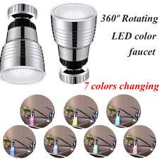 360 ° drehbarer Wasserhahn 7-Farben-Temperatursensorsteuerung RGB LED Wasserhahn