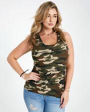 SOFT Brushed Olive CAMO tank top camouflage HOT KISS S M L XL PLUS 1X 2X 3X