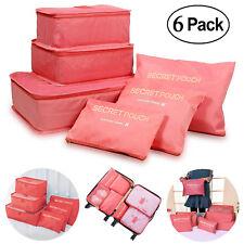Travel Luggage Organizer Packing Cubes Set Storage Bag Waterproof Laundry Bag