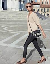 NWT $279 Designer J.CREW Leather Panel Tuxedo Pants - Dark Charcoal  -Black