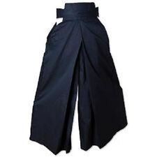 Kendo Hakama Uniform Japanese Martial Arts Aikido Training Gear - Black