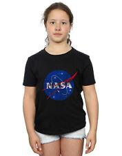 NASA Bambine e ragazze Classic Insignia Logo Distressed Maglietta