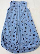 Carter's  0 3 M S Sleep Bag Sack Paw Print Sleepwear Fleece FREE NWT Baby Boy
