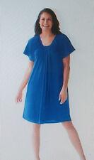 Womens 14W-16W Knit Swimsuit Cover-Up Dress M 100% Cotton Swim365 Color Choice