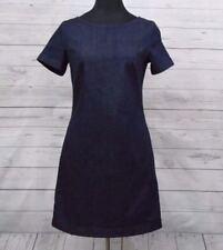 LOVELY BODEN WOMEN'S FLATTERING SHAPE MODERN INDIGO DENIM DRESS 6R, 8R