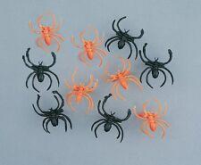 30 Fake Spider Rings Halloween Decoration Decorate Web or Wear Orange Black