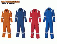 Dickies Cotton Coverall, Reflective Hi Viz Strips, Boiler Suit Various Colours