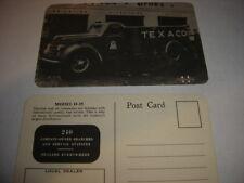 DEALERS LOT OF TEN 1940/50 TEXACO GASOLINE TRUCK PHOTO POSTCARD