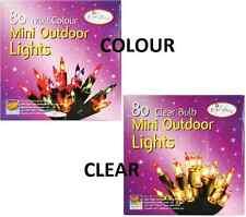 80 MINI Outdoor Lucine colore o cancellare Decorazione di Natale Xmas Party
