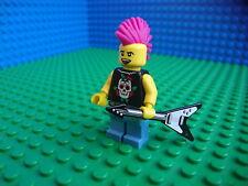 Lego Punk Rocker minifig Musician Guitar City Town 8804 Minifigures Series 4