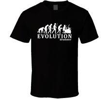 Drummer Evolution Funny Drum Humor Tee Mens Black T-Shirt
