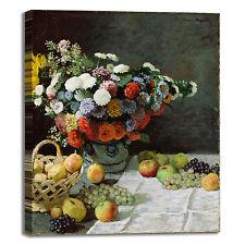 Monet natura morta fiori frutta quadro stampa tela dipinto telaio arredo casa
