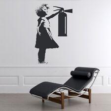 Meisje Extiguisher Banksy Muursticker WS-51320