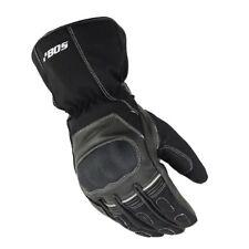 Winter Leder Motorrad Handschuhe Wasserdicht Thermo Leder Handschuhe Schwarz Neu
