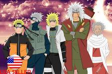 "Jiraiya Kakashi Naruto Sharingan Anime 36"" x 24"" Large Wall Poster Print Manga"