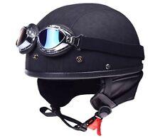 Helm Retro Oldtimer Motorradhelm mit Brille für Simson MZ ETZ TS AWO DDR Moped