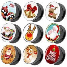 Carne Túnel de Oreja Motivo Imagen Piercing Plug Navidad Cómic Papá Noel