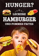 Aufkleber / Plakat / Poster - HUNGER? - WERBUNG - versch. Din-Formate Imbiss