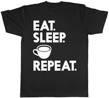 Eat Sleep Coffee Repeat Mens Short Sleeve Tee T-Shirt