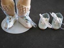 CHAUSSURES en CUIR pour/de POUPEES ANCIENNES-BLEUETTE.4cm - Leather Doll shoes