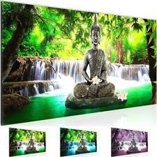 WANDBILDER Buddha Wasserfall VLIES LEINWAND BILD - XXL BILDER KUNSTDRUCK 503512P