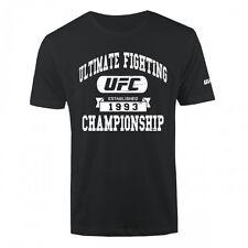 UFC Established 1993 Banner Logo T-Shirt - Black - Men's Sizes S-2XL   NWT