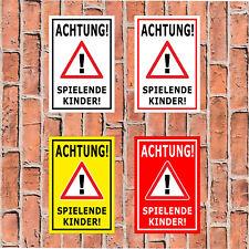 """Schild /""""Achtung spielende Kinder/"""" Warnhinweis langsam fahren 40 x 60cm Art 65"""