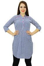 Phagun Cotton Polka Dot Print  Kurti Ethnic Designer Women Kurta Casual Dress