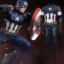 Avengers Captain America II 2 Age of Ultron Steve Rogers Cosplay Uniform Costume