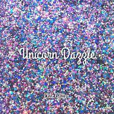 Nail Art Glitter Holographic Unicorn Dazzle Multi Mix Chunky Purple Blue Silver