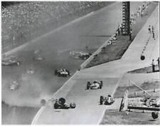 JIM CLARK DAN GURNEY AJ FOYT 1966 FIRST LAP CRASH  INDY 500 8 X 10 PHOTO