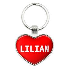 Metal Keychain Key Chain Ring I Love Heart Names Female L Lili