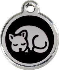 Médaille gravée pour chat  red dingo 11 couleurs