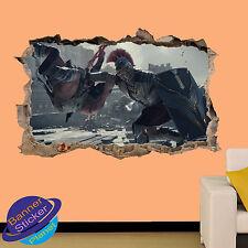 Gladiador Romano leyenda Pared Adhesivo Decoración Habitación efecto 3D se estrelló Calcomanía Mural YE3