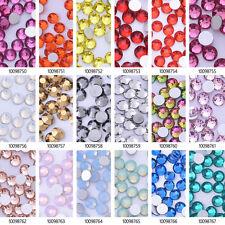 SS6 Gems Crystal Rhinestones Flat Non Hot Fix Crystal Craft for Nail Art 1440pcs