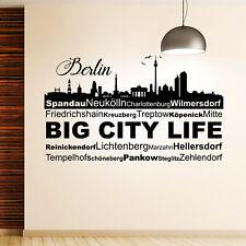 Wandtattoo Skyline Berlin Mit Bezirken